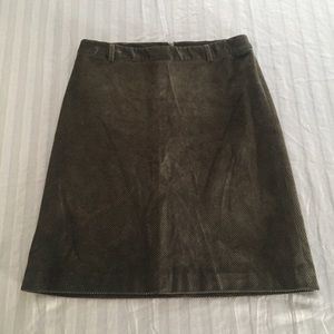 Theory Brown corduroy A-Line skirt Size 6